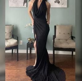 Portia & Scarlett Black Size 0 Bodycon Side Slit Mermaid Dress on Queenly