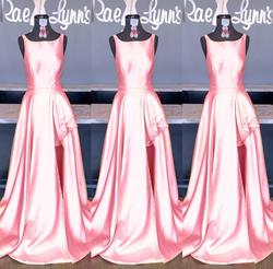 Sherri Hill Pink Size 14 Pageant Side Slit Boat Neck Train Dress on Queenly