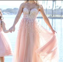 Andrea and Leo Pink Size 2 Strapless Short Height Ball gown on Queenly