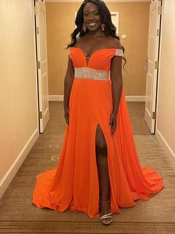 Orange Size 12 Train Dress on Queenly