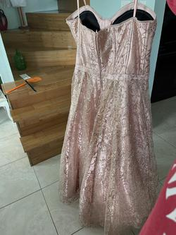 Gianni Bini Pink Size 12 Strapless Pageant Ball gown on Queenly