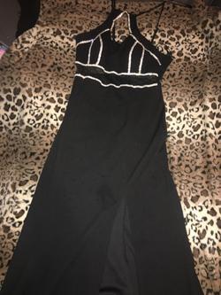 Black Size 10 Side slit Dress on Queenly