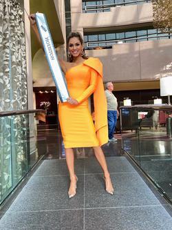 Orange Size 0 Cocktail Dress on Queenly