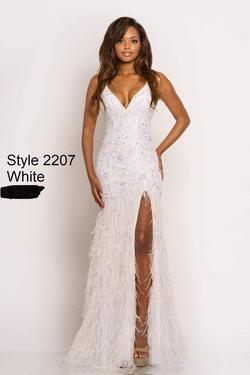 Johnathan Kayne White Size 8 Mermaid Dress on Queenly
