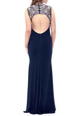 Betsy & Adam  Blue Size 8 Side slit Dress on Queenly