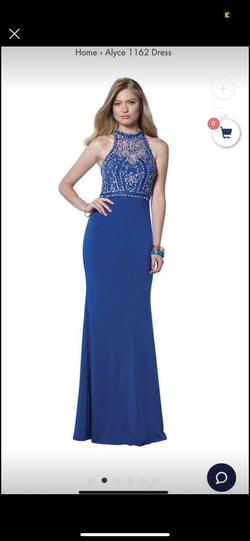 Alyce Paris Blue Size 6 Straight Dress on Queenly