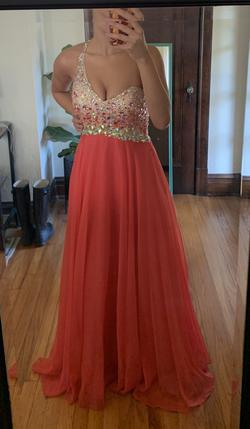 Blush Prom by Alexia Orange Size 4 Mini Straight Dress on Queenly