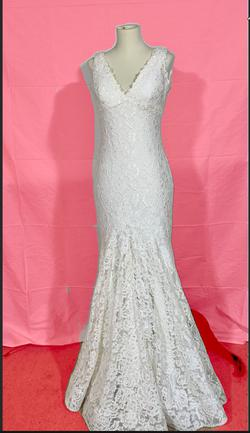 Jovani White Size 6 Pageant Mermaid Dress on Queenly