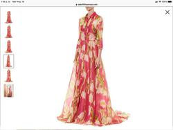 Carolina Herrera Pink Size 12 Ball gown on Queenly