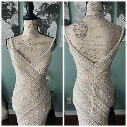 Jovani White Size 0 Prom Lace Mermaid Dress on Queenly