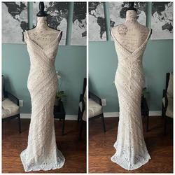 Jovani White Size 2 Pageant Bridesmaid Lace Mermaid Dress on Queenly