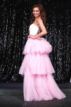 Custom Over Skirt Pink Size 0 Ball gown on Queenly