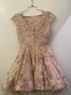 Jovani Pink Size 4 Cocktail Dress on Queenly