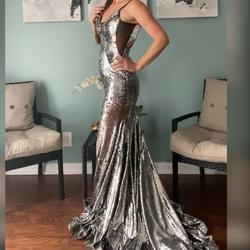Jovani Multicolor Size 2 Backless Prom Jewelled Mermaid Dress on Queenly