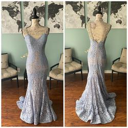 Jovani Blue Size 4 Prom Jewelled Mermaid Dress on Queenly