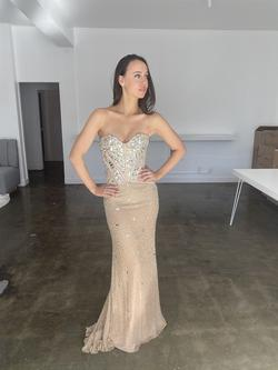 Sherri Hill Gold Size 2 Corset Straight Dress on Queenly