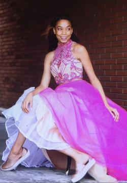 Sherri Hill Pink Size 2 Tulle Ball gown on Queenly