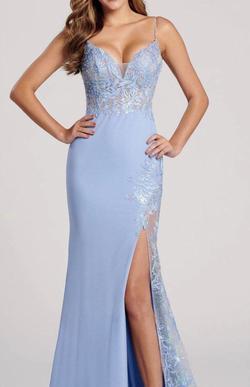 Ellie Wilde Blue Size 00 Side slit Dress on Queenly
