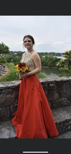 Alyce Paris Red Size 8 Prom Pageant Beaded Top Ball gown on Queenly