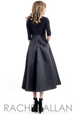 Style L1111 Rachel Allan Black Size 4 A-line Homecoming Wedding Guest Cocktail Dress on Queenly