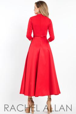 Style L1111 Rachel Allan Red Size 4 Homecoming Wedding Guest Cocktail Dress on Queenly