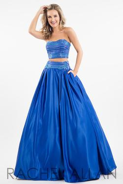 Style 7525 Rachel Allan Royal Blue Size 10 Pockets Pageant Ball gown on Queenly