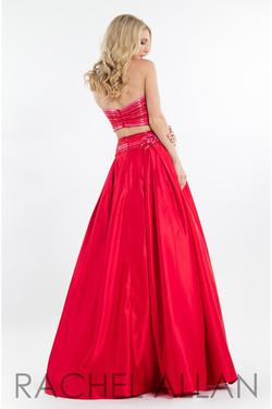 Style 7525 Rachel Allan Red Size 2 Pockets Tall Height Ball gown on Queenly