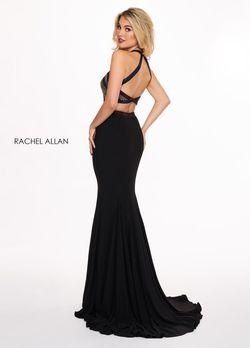 Style 6444 Rachel Allan Black Size 4 Pageant Jersey Mermaid Dress on Queenly