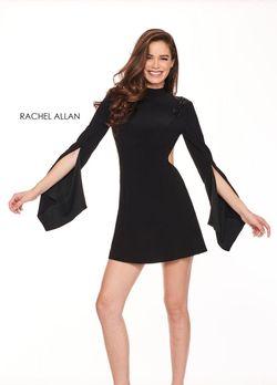 Style L1219 Rachel Allan Black Size 4 Interview Nightclub Wedding Guest Cocktail Dress on Queenly