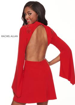 Style L1219 Rachel Allan Red Size 4 Prom Interview Cocktail Dress on Queenly