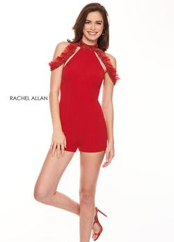 Style L1227 Rachel Allan Red Size 4 Mini Interview Bodycon Homecoming Cocktail Dress on Queenly