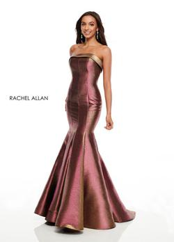 Style 7176 Rachel Allan Multicolor Size 12 Plus Size Prom Mermaid Dress on Queenly