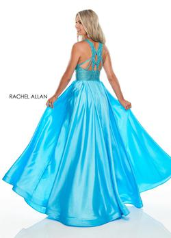 Style 7116 Rachel Allan Blue Size 6 Pageant Ball gown on Queenly