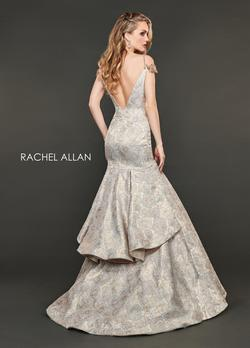 Style 8401 Rachel Allan Gold Size 6 Floral Mermaid Dress on Queenly