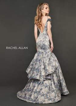 Style 8401 Rachel Allan Gold Size 0 Floral Mermaid Dress on Queenly
