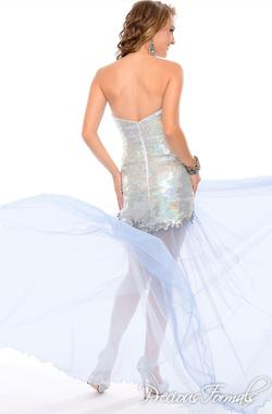 Style  P55250 Precious Formals Silver Size 6 Homecoming Strapless Cocktail Dress on Queenly