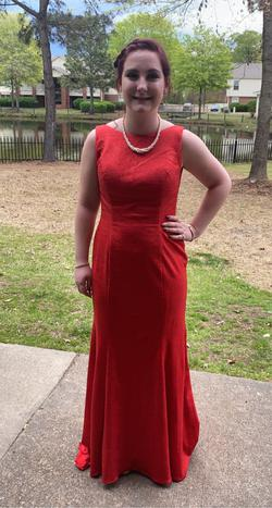 Royal We Red Size 2 Prom Boat Neck Wedding Guest Straight Dress on Queenly