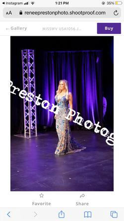 Sherri Hill Blue Size 2 Prom Straight Dress on Queenly