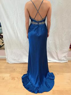 Paris Blue Size 8 Prom Sorority Formal Spaghetti Strap A-line Dress on Queenly