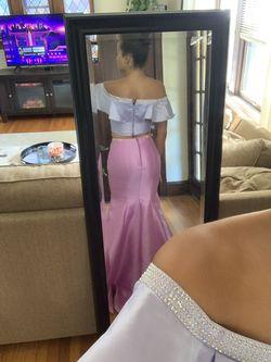 Ellie Wilde Purple Size 6 Prom Wedding Guest Mermaid Dress on Queenly