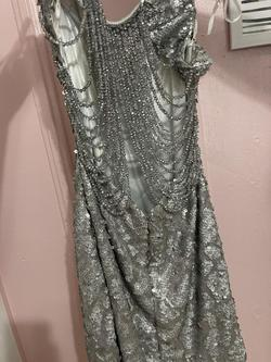 Jovani Silver Size 2 A-line Dress on Queenly