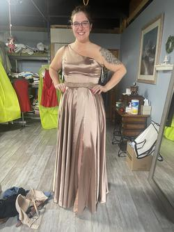 Sherri Hill Multicolor Size 16 Bridesmaid One Shoulder A-line Dress on Queenly