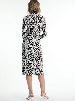 Diane Von Furstenberg Multicolor Size 20 High Neck V Neck Straight Dress on Queenly