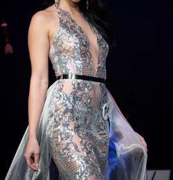 Fernando Wong Silver Size 2 Mermaid Dress on Queenly