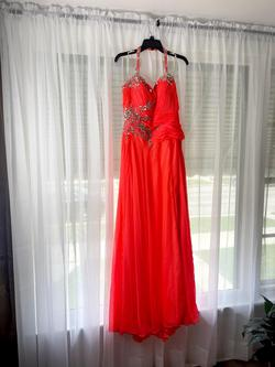 Orange Size 12 Straight Dress on Queenly