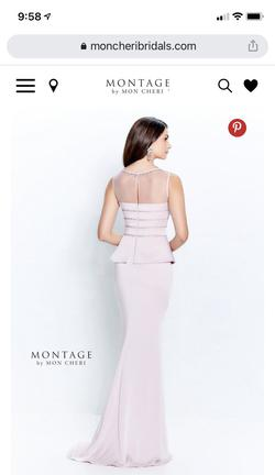 Montage by Mon Cheri Pink Size 16 Straight Dress on Queenly