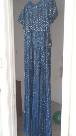 ADRIANNA PAPELL  Blue Size 14 Tulle Ball gown on Queenly
