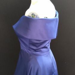 xscape Blue Size 4 Bridesmaid V Neck Side slit Dress on Queenly