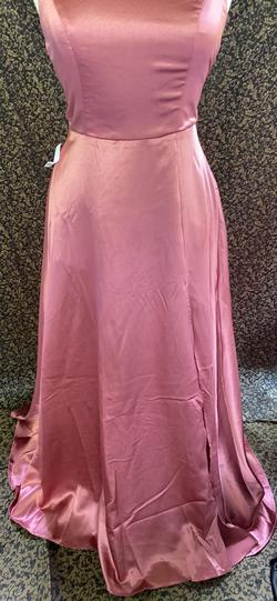 WOW COUTURE Pink Size 12 Bridesmaid Sorority Formal Spaghetti Strap A-line Dress on Queenly