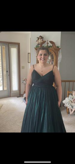Sherri Hill Green Size 16 Mini Ball gown on Queenly